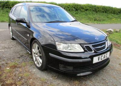 2008 Saab 9-3 2.8T V6 Aero Sportwagon Automatic.57000 miles £6500. £265 RFL per annum.
