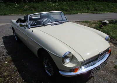 1978 MGB Roadster Chrome Bumper Conversion.SOLD