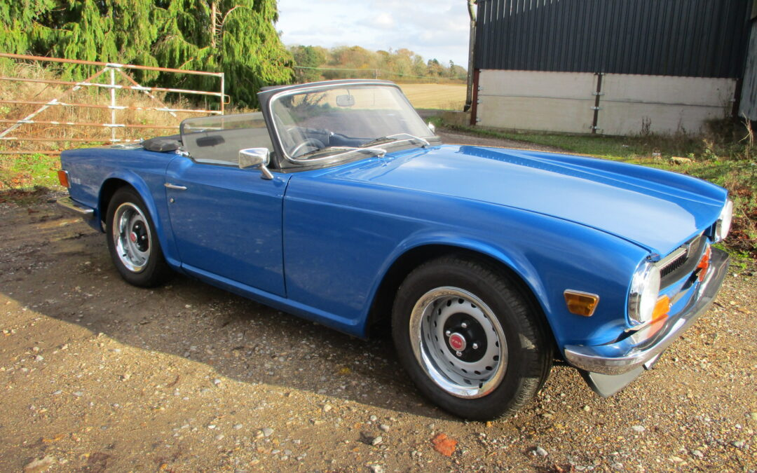 1971 Triumph TR6 150 BHP Fuel injection UK Spec Car. SOLD