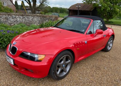 1997 BMW Z3 1.9 Roadster Manual. 83400 Miles. Hell Rot with Black Leather interior. SOLD